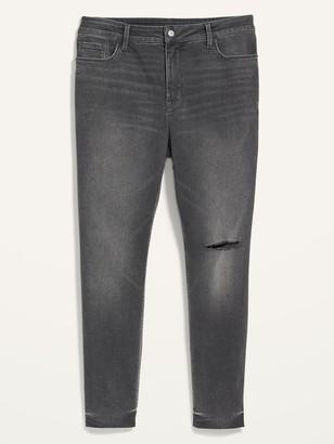 Old Navy Extra High-Waisted Secret-Slim Pockets Rockstar 360 Stretch Plus-Size Super Skinny Ripped Jeans