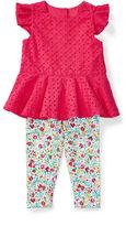 Ralph Lauren Girl Eyelet Top & Floral Legging