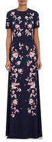 Erdem Women's Samira Lily-Print Silk Gown-Navy