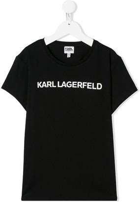 Karl Lagerfeld Paris TEEN logo print T-shirt