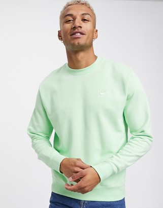 Nike Club crew neck sweatshirt in green