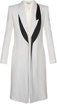 Alexander McQueen Asymmetric-lapel leaf-crepe coat