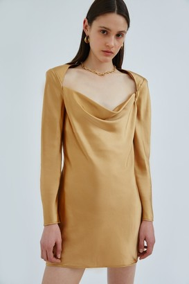 C/Meo ENTWINE LONG SLEEVE DRESS Gold