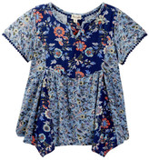 Ten Sixty Sherman Woven Mixed Twin Printing Top (Big Girls)