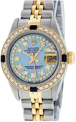 Rolex Lady DateJust 26mm Blue Steel Watches