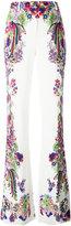 Roberto Cavalli floral print bootcut trousers - women - Cotton/Spandex/Elastane/Viscose - 44