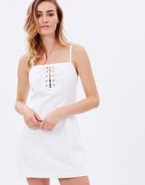 MinkPink Shoreline Lace-Up Dress