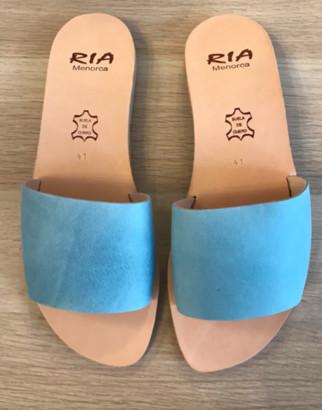 riA Sandal - 38 / aqua blau / Nubuk Leder