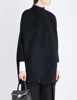 Valentino Scalloped wool and cashmere-blend cape