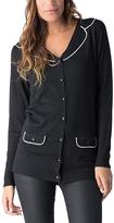 Yuka Paris Black & Ivory Button-Up Sweater