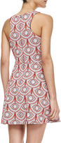 Mara Hoffman Iris Circle-Print Fit-and-Flare Dress