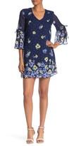 Vince Camuto Floral V-Neck Shift Dress