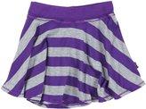 T2 Love T2Love Stripe Circle Skirt (Toddler/Kid) - Purple/Heather Gray-2