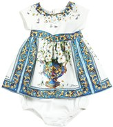 Dolce & Gabbana Poplin & Jersey Dress & Diaper Cover