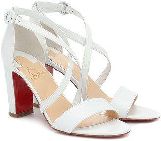 Christian Louboutin Loubi Bee 85 leather sandals