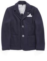 Armani Junior Boy's Knit Blazer With Pocket Square