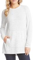 Karen Kane Women's Side Slit Fleece Knit Top