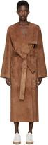 Loewe Brown Suede Belted Coat