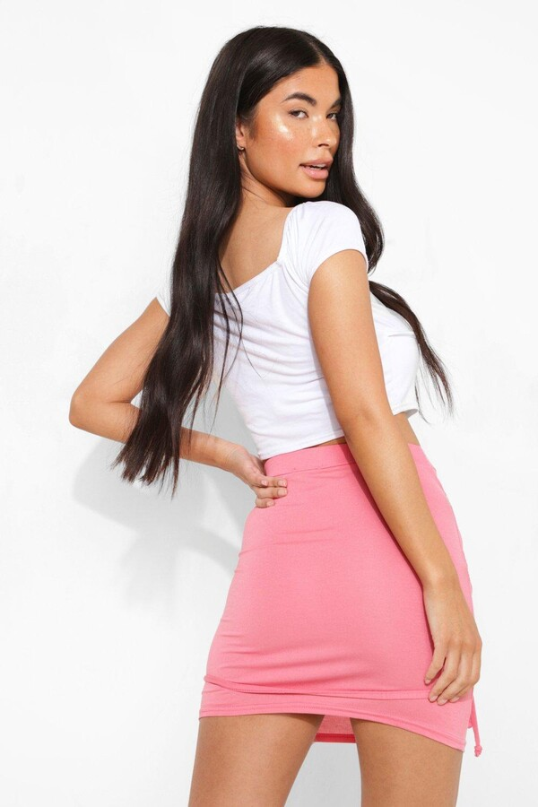Thumbnail for your product : boohoo Petite Extreme Tie Detail Wrap Bodycon Skirt