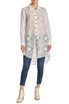 Aratta Princess Madeleine Beaded Lace High/Low Shirt
