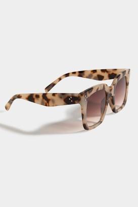 francesca's Poppy Tort Square Sunglasses - Tortoise