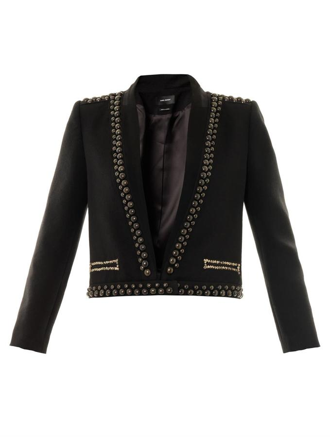 Isabel Marant Jewel studded wool jacket