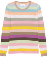 Allude Striped Cashmere Sweater - Pink
