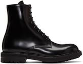 Alexander McQueen Black Combat Boots