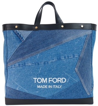 Tom Ford T Screw Shopper medium denim patchwork