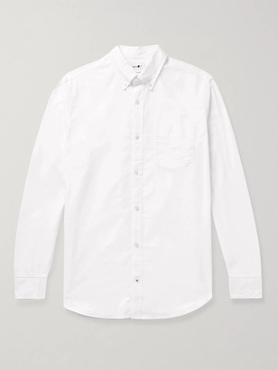 NN07 Levon Button-Down Collar Cotton Oxford Shirt