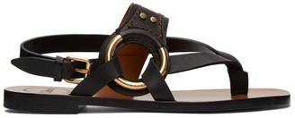 Chloé Black Demi Flat Sandals