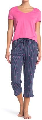 Nautica T-Shirt & Cropped Pants 2-Piece Pajama Set