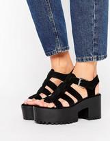 Pull&Bear Chunky Heeled Sandal