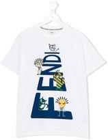 Fendi printed T-shirt - kids - Cotton - 4 yrs