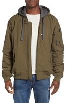Ben Sherman Men's Hooded Water Resistant Bomber Jacket