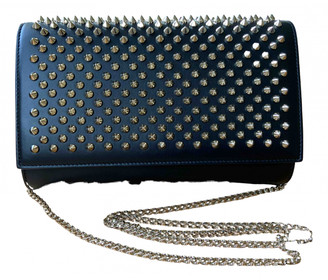 Christian Louboutin Black Leather Clutch bags