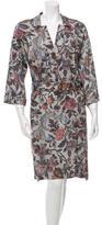 Dries Van Noten Belted Floral Print Dress