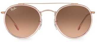 Ray-Ban RB3647 51MM Iconic Round Aviator Sunglasses