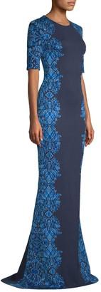 St. John Brocade-Knit Gown