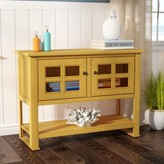 Beachcrest Home Aisley Console Table Color: Autumn Gold