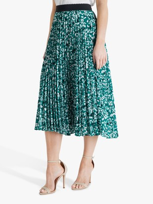 Fenn Wright Manson Petite Agate Abstract Midi Skirt, Terrazzo Green