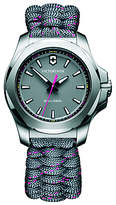 Victorinox 241771 Women's I.N.O.X Date Fabric Paracord Strap Watch, Grey