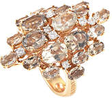 Damiani 18K Rose Gold 0.25 Ct. Tw. Diamond & Quartz Ring