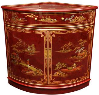 Oriental Furniture Corner Cabinet