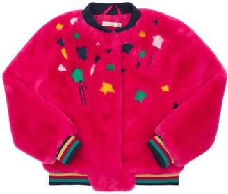 Billieblush Faux Fur Bomber Jacket