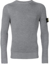 Stone Island fitted crew neck sweater - men - Wool - L