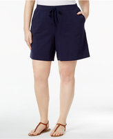 Karen Scott Plus Size Knit Shorts, Created for Macy's