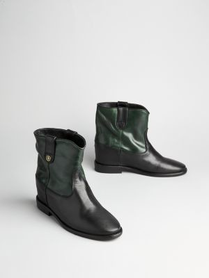 Tommy Hilfiger Concealed Wedge Leather Ankle Boots