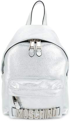 Moschino Metallic leather backpack
