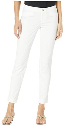Lilly Pulitzer Kelly Textured Ankle Length Skinny Pants (Resort White) Women's Casual Pants